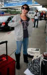 Ashely Greene Catching A Flight At LAX